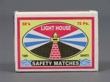 LIGHT HOUSE. SAFETY MATCHES. Cerillos.