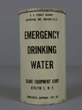EMERGENCY DRINKING WATER. U.S. COAST GUARD. Agua potable de emergencia.