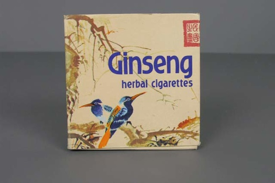 Ginseng herbal cigarettes. Cigarros.